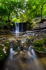 Three sisters (Mark Boadey) Tags: water autumn wales green nantmill fall river waterfall