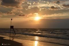 TIME OF SUNSET !   in explore. (Salvatore Lo Faro) Tags: tramonto sole spiaggia nuvole riflessi risacca torretta rosso giallo bellezza rodi lidodelsole puglia italia italy vacanze lidodelgargano salvatore lofaro nikon 7200