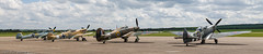 Fighter Lineup (eaglekepr) Tags: airplane photography aircraft hurricane spitfire hawker bf109 messerschmidt supermarine panoramasequence buchon canoneos7d efs1585mmf3556isusm