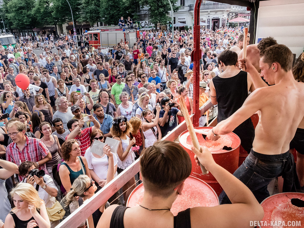 'Bando' percussion group Berlin Karneval der Kulturen Sunday 09 June 2014