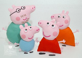 Família Peppa Pig.