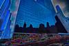 taking the blue pill (stanfarber62) Tags: blue 6 newyork reflection art canon wow unitedstates manhattan cartoon line fantasy 6ave 42ndstreet 6d gracebuilding 180mmmacro