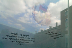 World Cup Burger (dr_loplop) Tags: world blue sky black reflection cup window cheese dill menu pepper football salad with burger soccer weltmeisterschaft ring relish chorizo mayo served onion cajun pickle coupedumonde جام جهانی cwpanybyd ฟุตบอลโลก גביע העולם العالم copadomundo notmcdonalds 世界杯 dünyakupası w杯 wereldkampioenschapvoetbal كأس ilmondiale notbrazil copadelmón παγκόσμιοκύπελλο कप विश्व pialadunia кубокмира svetovnipokal világkupa heimsmeistarakeppnin pasauliočempionatas светскопрвенство tazzataddinja cupamondială svetovýpohár världscupen кубоксвіту cúpbóngđáthếgiới wêreldbeker световнопървенство světovýpohár verdenmesterskab maailmancup weireldkampioenschapsjotten lacopamundial cornandomhain кубаксвету campionatodomundo 세계축구 wotnobrazilnuts