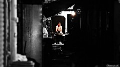 backstreet (Vernon de M) Tags: world life street city light bw white man black art love trash photography hongkong alone respect homeless poor snap backstreet help midnight survivor citizens scavenger hopeless simplelife allseeingeye hardworking healtheworld hardearned