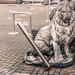 PUBLIC ART IN LIMERICK [JUNE 2014] - LION GUARDING A CAR PARK