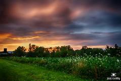 Set Aglow by Jim Crotty (jimcrotty.com) Tags: sunset sky beauty hope peace july grace jimcrotty raptorridge ohionaturephotography