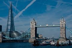 DDL_1230 (ddl200) Tags: sky london thames skyline skyscraper towerbridge cityhall flats shard riverthames vapourtrail theshard mayorsofficearchitecture