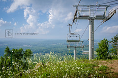 Chair lift on Rib Mountain near Wausau, WI (DinsPhoto) Tags: summer chairlift ribmountain wausauwi