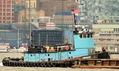 """Donjon Marines """"Cheyenne"""" (tom_hoboken) Tags: boat manhattan vessel tugboat hudsonriver tug cheyenne northriver donjon"""