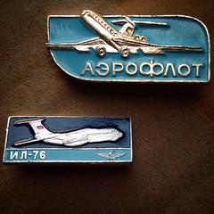 Aeroflot   pins (RiveraNotario) Tags: vintage square pins squareformat soviet sovietunion lapelpins  iphoneography instagramapp uploaded:by=instagram