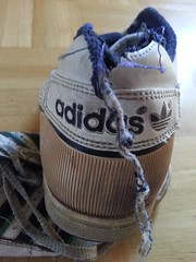 20140712_103014 (trashedsneaks) Tags: old ripped sneakers worn rubbish sneaker torn adidas trashed