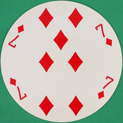 Good Year Ventura Round Playing Card 7 of Diamonds (Leo Reynolds) Tags: playing deck card squaredcircle playingcard carddeck xleol30x sqset110 xxxvisiblexxx