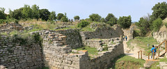 The walls of Troy (arjayempee) Tags: turkey troy troia anatolia truva illium trojanwar illion wilusa homersiliad  peregrineadventures truwisa troyvi troyvii av6a220205stitch