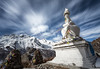 Stupa in Langtang Valley, Nepal (JoshyWindsor) Tags: canonef1740mmf4l canoneos6d clouds landscape langtang longexposure mountains ndfilter nisind1000 nepal prayerflags travel trekking valley
