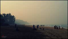 KokanBeach (Vaibhav D. Deshmukh) Tags: morning light sea people sunlight india beach lens landscape photography sand gloomy sony picture best photograph maharashtra click sunrays camara vaibhav kokan ganpatipule deshmukh kokanbeach alpha37 camclick