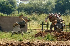 Escape Attempt! (MJ_100) Tags: show infantry germany army military wwii battle german ww2 soldiers reenactment troops usarmy secondworldwar revival warandpeace wehrmacht