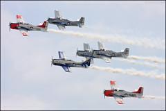 Trojan Horseman (Justin Hardecopf) Tags: show team nebraska air united north navy horsemen demonstration american marines states airforce trojan 2014 t28 offutt