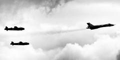 Bomber Flypast (Miles From Nowhere Photography) Tags: nikon lancaster vulcan d800 waddington rafwaddington avrolancaster bbmf nikond800 avrobomber