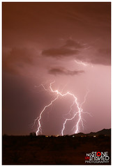 7-31-14 (No Stone Unturned Photography) Tags: arizona sky mountain storm weather clouds desert extreme monsoon bolt strike lightning electrical 73114