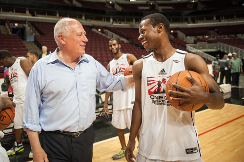Governor Pat Quinn at the United Center, Chicago, IL—July 26, 2014