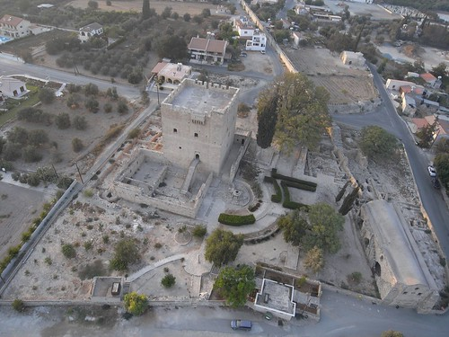 Kolossi castle. Cyprus. Kite aerial photography