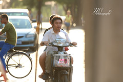 You just got 200mm'd! (yi15922) Tags: china street beijing motorcycle ilobsterit scorpyioncorporation yichenphotography