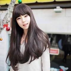 วิกผมยาว แบบสาวเกาหลีหน้าม้าสวยแบบธรรมชาติน่ารักใหม่ นำเข้า สีดำและน้ำตาล พร้อมส่งW008 ราคา670บาท  โทรสั่งของกับ พี่โน๊ต/พี่เจี๊ยบ : 083-1797221, 086-3320788, 02-9394933 | LINE User ID : lotusnoss และ lotusnoss.com #วิกผมยาว #วิกผมยาวดัดลอน #วิกผมยาวหน้าม
