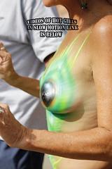 fantasy fest body paint (Mr SLOWMOTIVES) Tags: ass beauty nude tits nipples boobs candid bodypaint voyeur topless fantasyfest milf grandmom keywestflorida nudebeach gilf silverhair toplessmilf