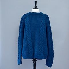 (Mytwist) Tags: irish wool fashion vintage sweater ebay hand teal knit style cable jumper knitted aran pullover kopia cabled mytwist aranstyle vagabondsvintage