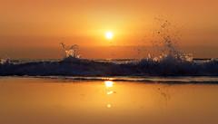 Peace - EXPLORED! Thank you :-) (Fotomondeo) Tags: españa sun sol valencia sunrise reflections spain waves playa alicante amanecer olas reflejos alacant salidadelsol lx7 playadesanjuan lumixlx7 panasoniclumixlx7