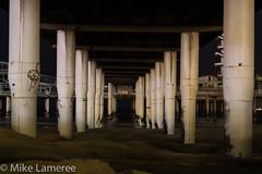 Pillars (Mike Lameree) Tags: beach architecture night pillar scheveningenpier