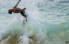 Big Beach (airinnajera) Tags: ocean friends summer beach fun hawaii nikon surf waves maui bodyboarding d5100