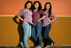 Girl Gang of Plaid (#11 of 100 Strangers Project, Explored #68 9-8-14) (Luv Duck - Thanks for 15M Views!) Tags: girls cute smile instyle pretty braces sweet young smiles jeans plaid abercrombiefitch cutegirls 100strangers gangofgirls
