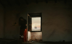 [34] Melancholy (Silvia Travieso G.) Tags: old sunset red abandoned love window sailboat solitude ship loneliness warmth away letter sail goodbye melancholy 52weeks silviatravieso