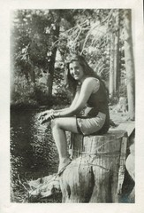 At the river (sctatepdx) Tags: 1920s snapshot vernacular 1920 vintagebathingsuit oldsnapshot vintageswimsuit vintagesnapshot