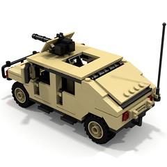 BRIX Military HMMWV V1.0 Fastback Tan B (IK) Tags: lego military hummer ldd hummvee