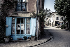 (Pablo Rosn) Tags: road street roses france window shoe ancient gallery village vine exhibition vegetation romantic asphalt camon