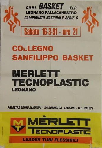 Manifesto Legnano Basket - Collegno Basket - Serie C Maschile