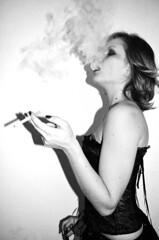 Role-taking #7 (CarounMohana) Tags: girl dark punk cigarette smoke piercings whore trashy