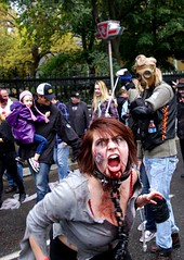 She's Not Happy (Georgie_grrl) Tags: costumes toronto ontario fun cool freaky event undead queenstreetwest 2012 walkingdead zombiewalk pentaxk10d lifeimpaired furtherintothedarkside savethewalk keeptheundeadalive