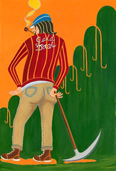 Gold Dash (Hilo Tomula) Tags: hilotomula hilo tomula hirotomura hiro tomura トムラヒロ ゴールドラッシュ worker goldrush tomulahilo tomurahiro illust illustration painting artwork tomulahiro tomurahilo hilotomura hirotomula イラストレーション チョイス choice とむらひろ とむら ひろ acrylic アクリル picture ガッシュ イラスト painter paint イラストレーター design デザイン designer graphic グラフィック 絵 illustrator gold rush goldfield pickaxe pick mine mining illustrater pipe smoking overalls art