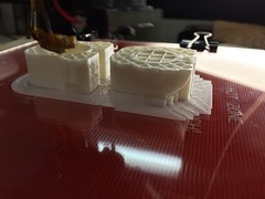 3D printing a model gun.