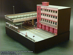 1:150 Diorama Model In the roaring traffic's boom (Junction of Wan Chai Fire Station & Canal Road Flyover, Hong Kong  |    () (AC Studio) Tags: road street city west bus scale buses station paper fire bay canal miniature model asia modeling scenic n mini scene east made cardboard wan  scratch gauge modelling making chai flyover diorama causeway cwb 1150 hennessy scratchbuilt