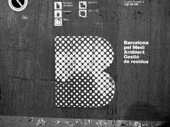 R0011153 (adam sharp) Tags: barcelona city b urban blackandwhite bw espaa contrast logo photography design spain europe barca view highcontrast catalonia halftone font letter catalunya gr iv ricoh branding catalua typeface guadi parkgell antonigaud carmelohill josepmariajujol catalonha sierradecollserola parquedelcarmelo