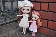 Sisters visiting neighbor!