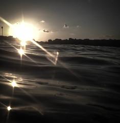 IMG_5106 (newbraveworld) Tags: reflection beach israel waves afternoon heart haifa batgalim inthesea medeteraniansea medeteranianbeach