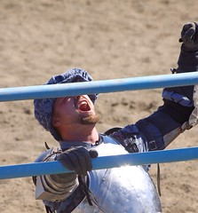 Blue Knight (For Bunk) Tags: horse oregon fair knights armor knight ren faire fighting joust swords armour renaissance hillsboro axes rennies swordplay joustofpeace