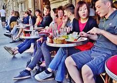 2014-09-28  Paris - La Marine - 55 Bis Quai de Valmy (P.K. - Paris) Tags: street people café french terrace outdoor pavement candid drinking terrasse september sidewalk septembre openair 2014 terrazza