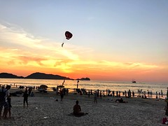 Sunset- Patong Beach (RealHedii) Tags: happy fun january 2017 summer warm hot sunny sun vacation semester holiday travel trip phuket sand red pink bluesky sky beach sunset thai thailand patongbeach patong