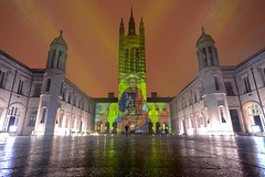 Spectra Festival of Light, Marischal College, Aberdeen (iancowe) Tags: spectra festival light aberdeen night marischal college university acc scotland lightshow illuminated ray rays granite snow shower council offices